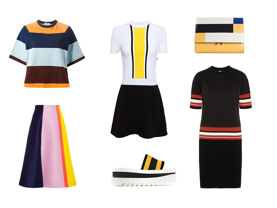 Bright Stripes collages